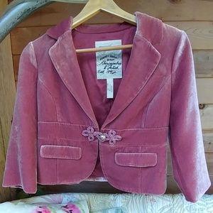 Abercrombie & Fitch Velvet Jacket Bolero